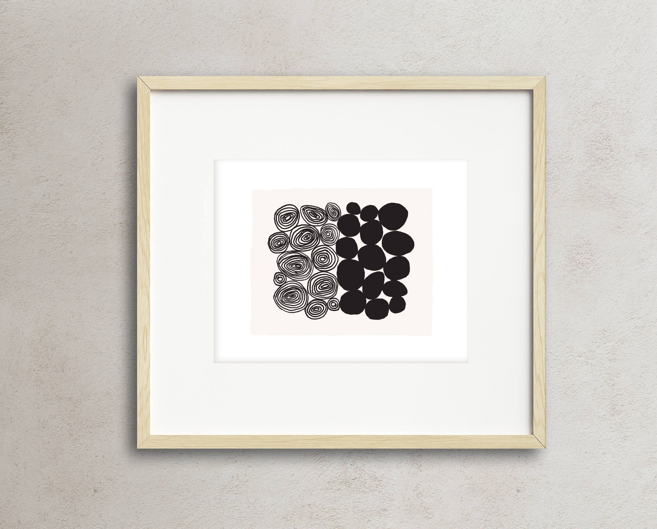 Monochrome Prints Black And White Abstract Wall Art Modern Poster