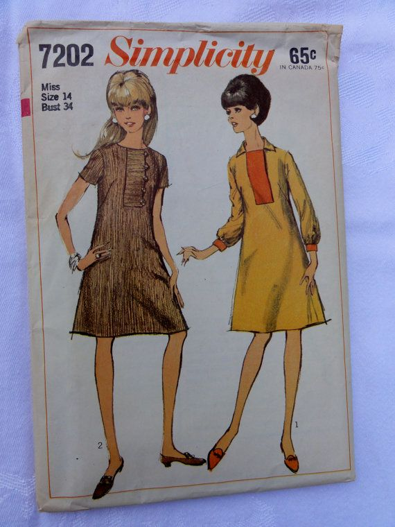 Sewing Pattern from 1967 Dress size 14 by Threadbender64 on Etsy ...