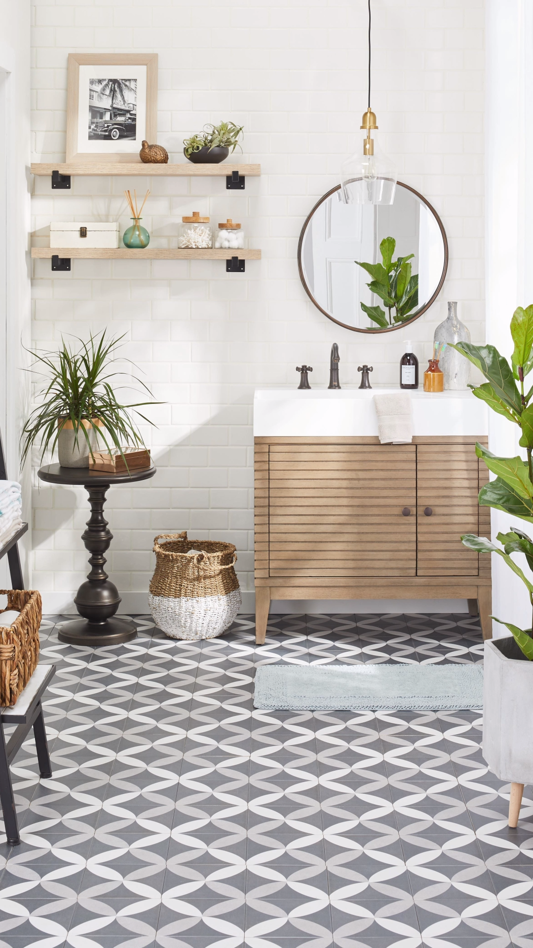 Photo of gorgeous bathroom decor from Overstock