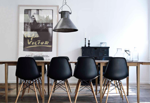 Pin By Ryan Corlett On House Black Eames Chair Interior House