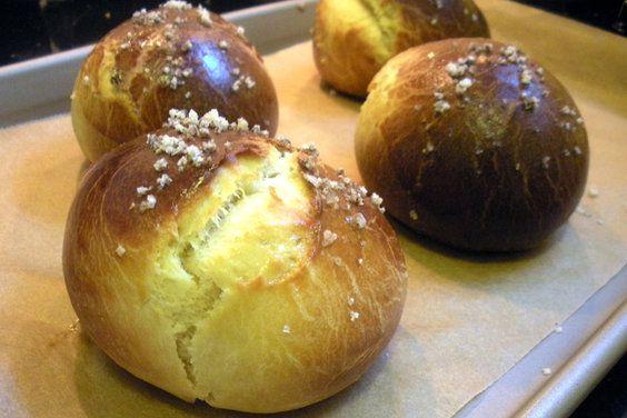 Brioche Rolls with Fleur de Sel, a recipe on Food52. These look so delicious!
