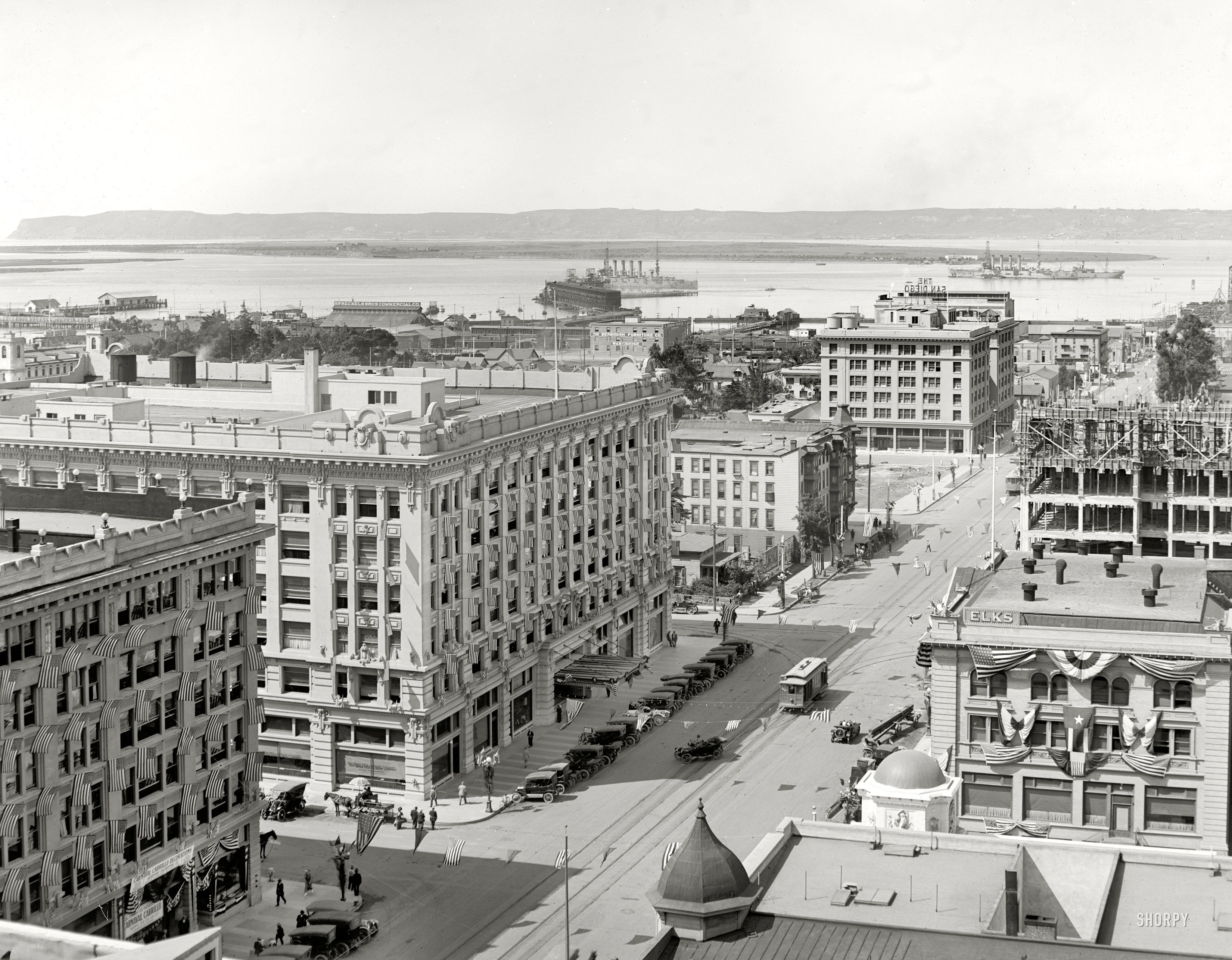 San Diego California 1913 Quot San Diego And Bay From U S