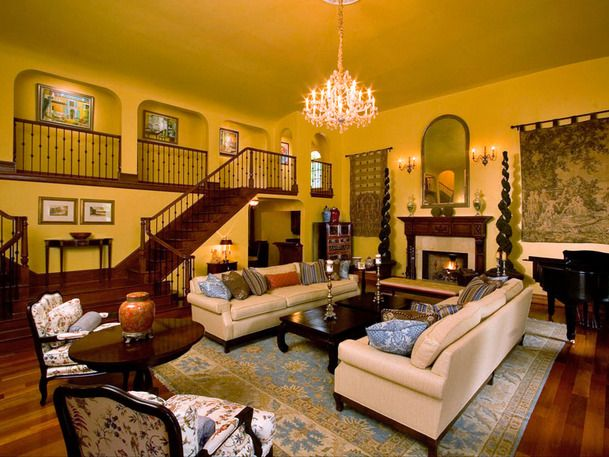 Formal Living Room Interior Ideas Living rooms Yellow wall