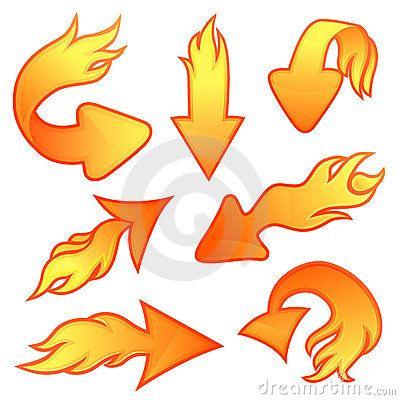 Fire arrows | Business vector illustration, Arrow ...