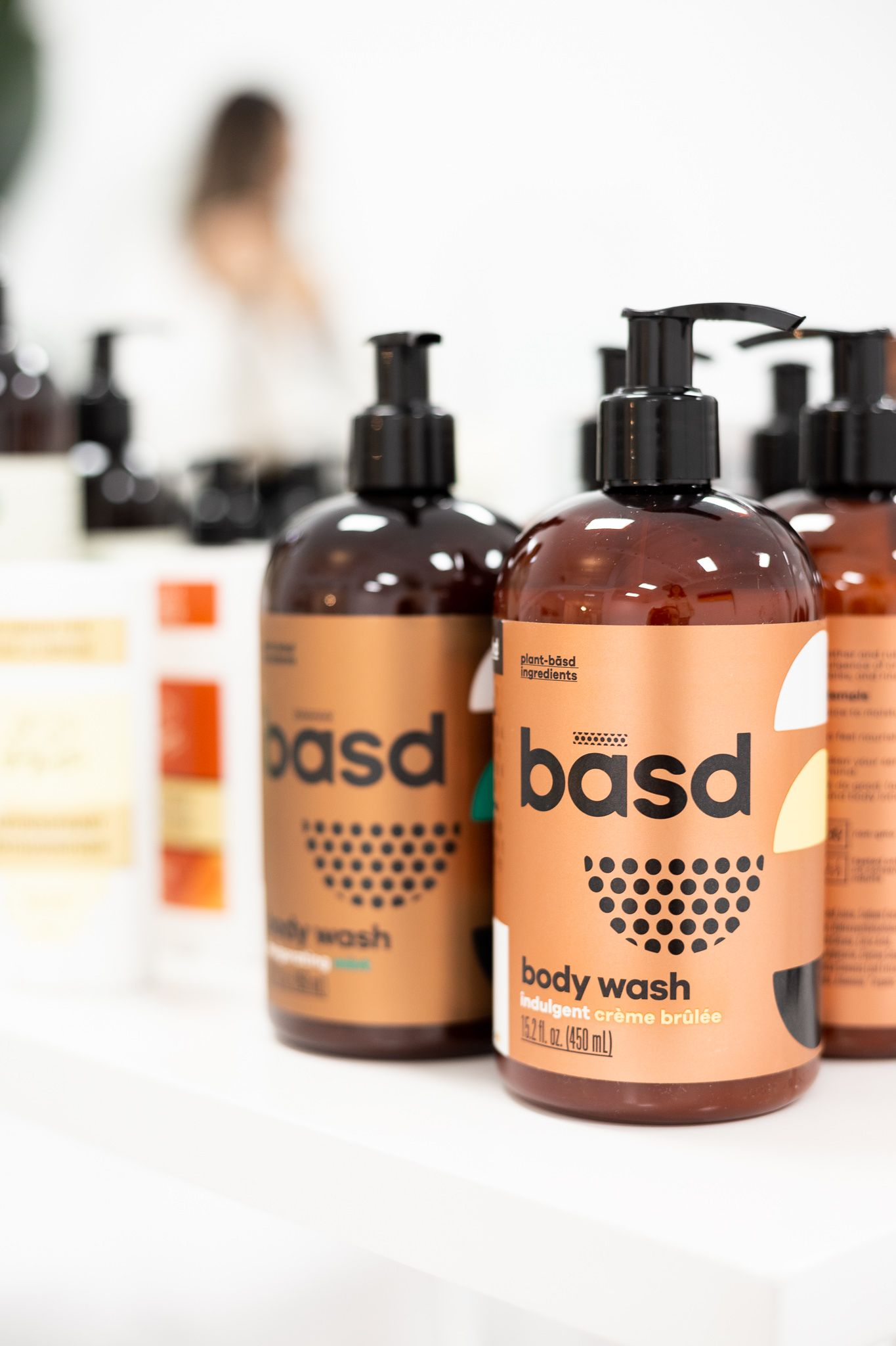 Basd natural body wash with indulgent creme brulee