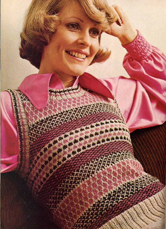 Retro knitting and crochet patterns - fair isle vest http://www ...