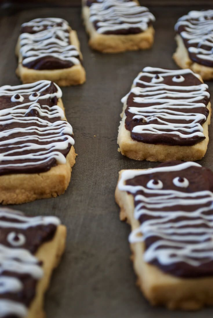 Halloween Mummy Cookies A cute and tasty shortbread cookie with - cute homemade halloween decorations