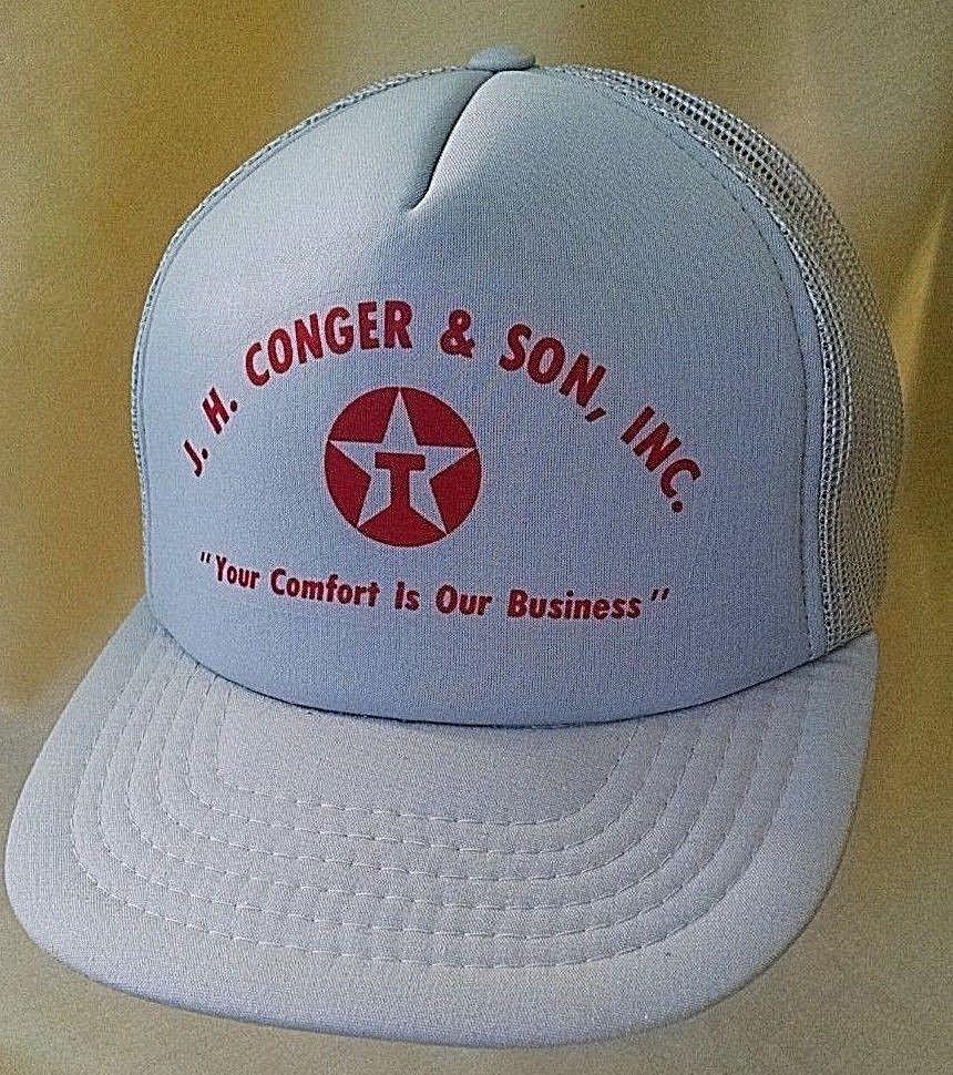 6ebaa64aeb3 TEXACO HAT BASEBALL BALL CAP J H CONGER SON INC COMFORT BUSINESS YUPOONG  VINTGE.  Yupoong  BaseballCap