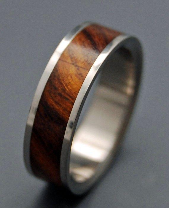 For B?? Desert Rose Wooden Wedding Rings By