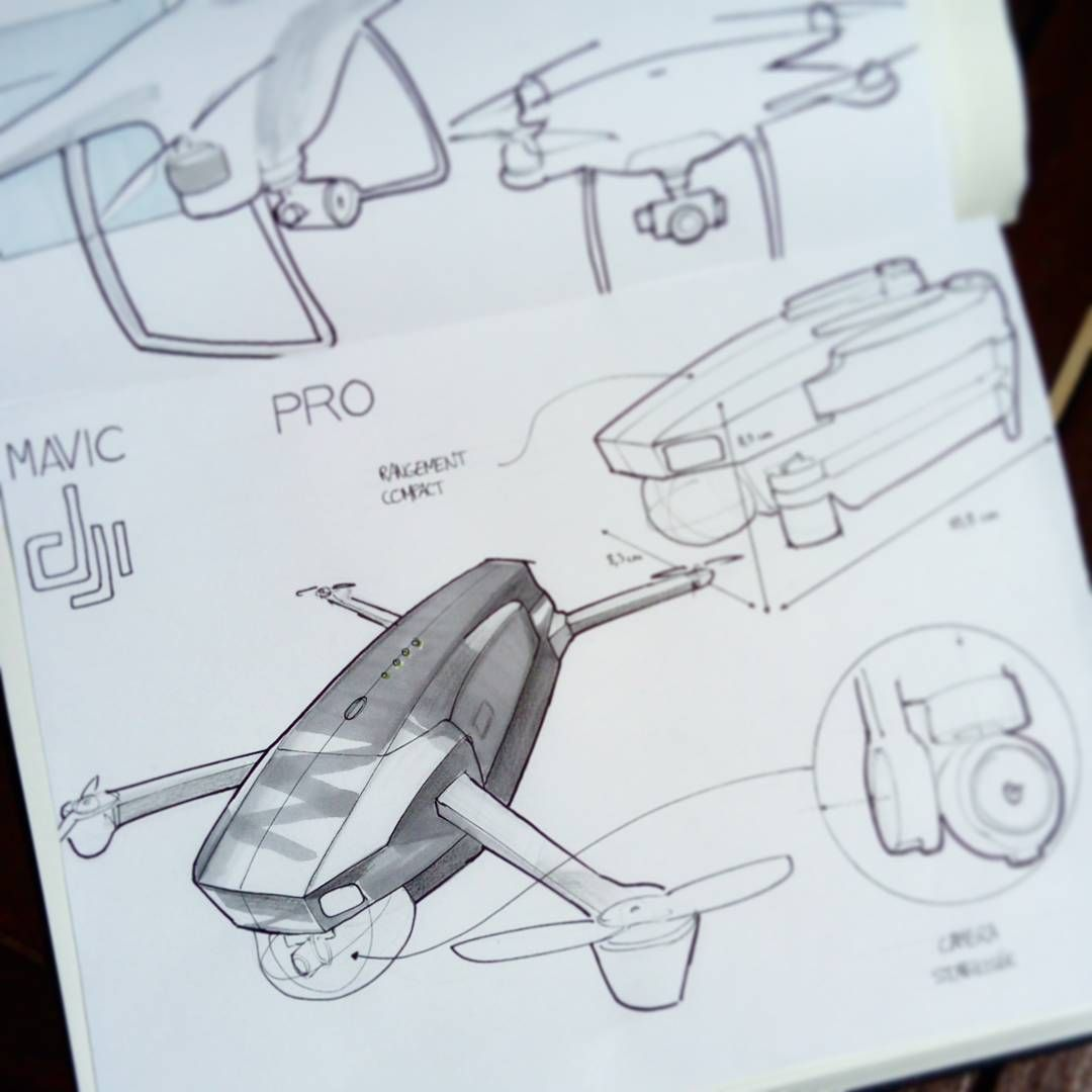 Bruno Miloux Designsketches Sur Les Drones Mavicpro Et Phantom De Quadrotor Wiring Diagram Chez Dji Drone