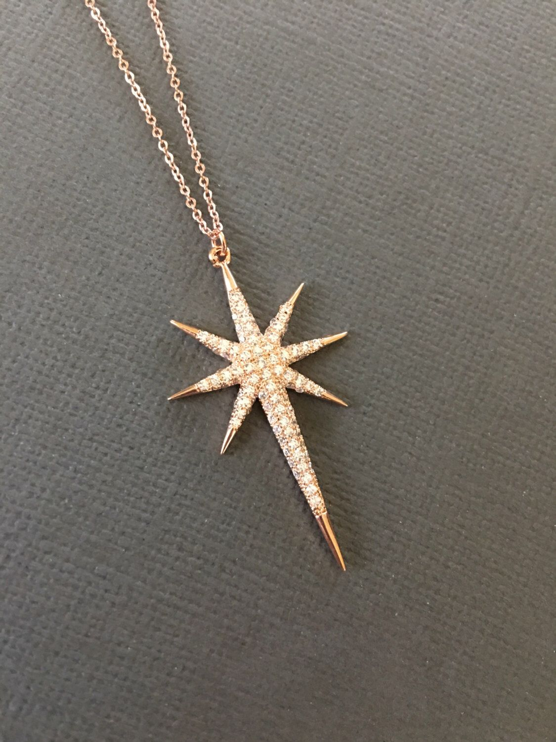 pendant silver necklace gold plated sterling star north