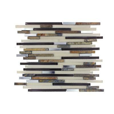 Msi Stone Ulc Windsor Canyon Interlocking Glass Stone Metal Mesh Mounted Mosaic