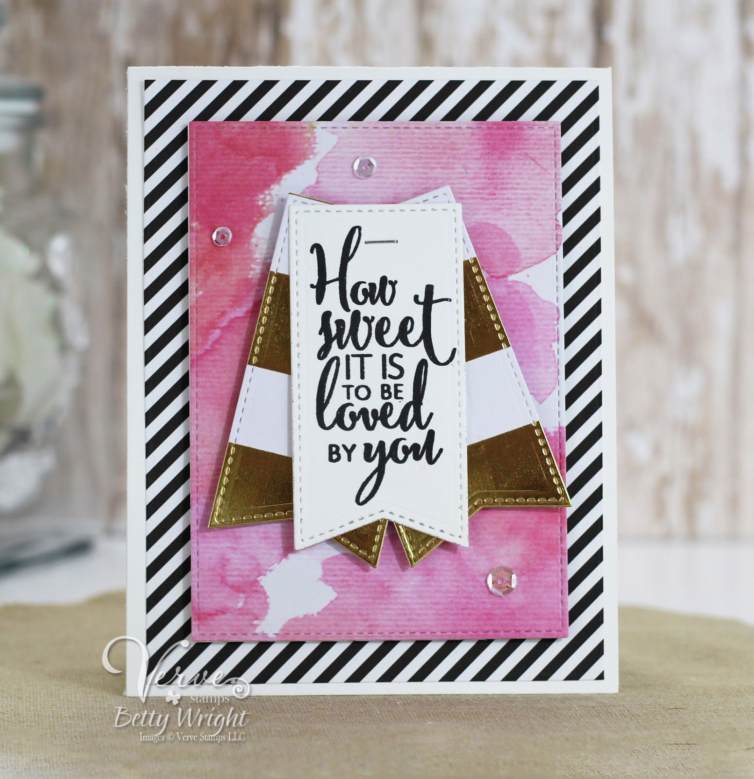 Handmade card by betty wright featuring the love everlasting stamp