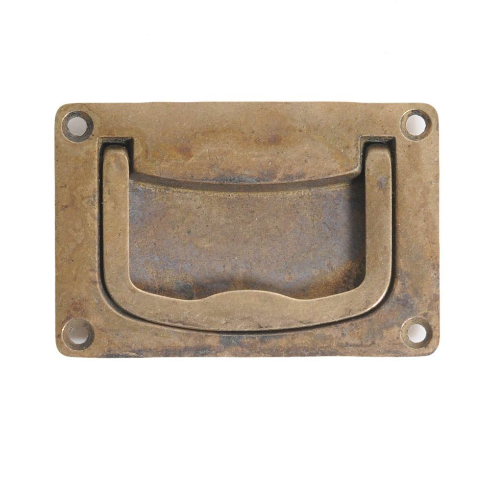 Shop Classic Hardware 100111 Vintage Brass Recessed Pull at The Mine ...