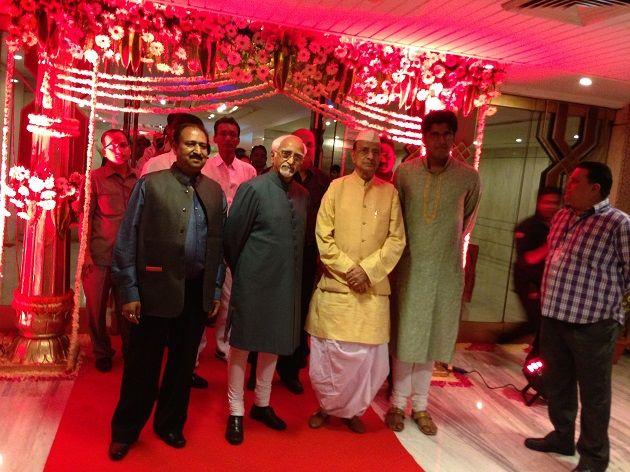 Vice President of India Mr. Hamid Ansari at Rahul and Snigdha's YUNA Wedding