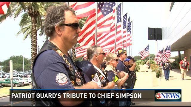 Patriot Guard Riders Pay Tribute to Chief Simpson - KiiiTV.com South Texas, Corpus Christi, Coastal Bend