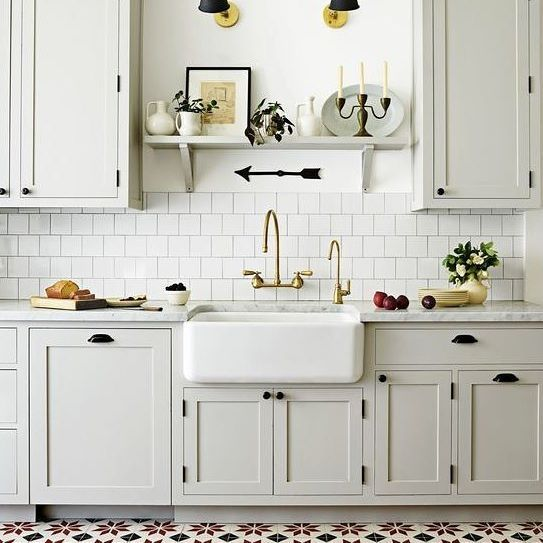 Kitchen Cabinets Over Sink: In Love With This Kitchen Via @housebeautiful