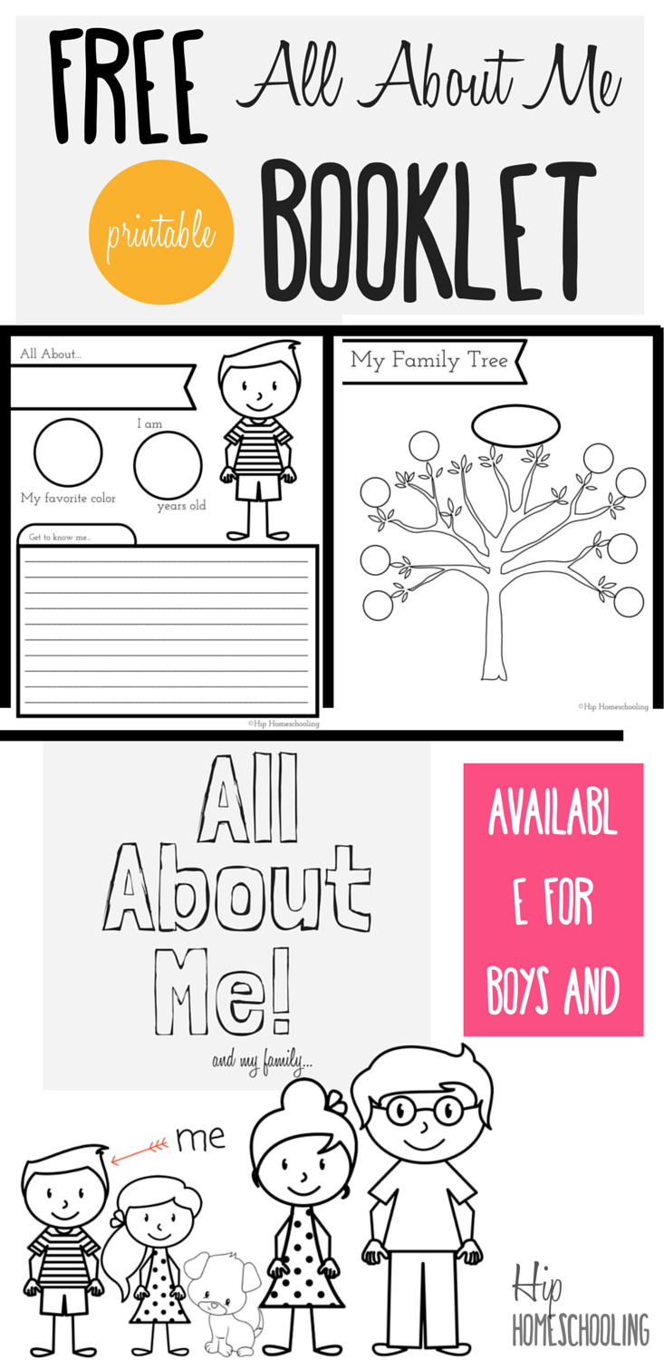 All About Me Worksheet for Kids- Free printable all about me booklet for  homeschool kids