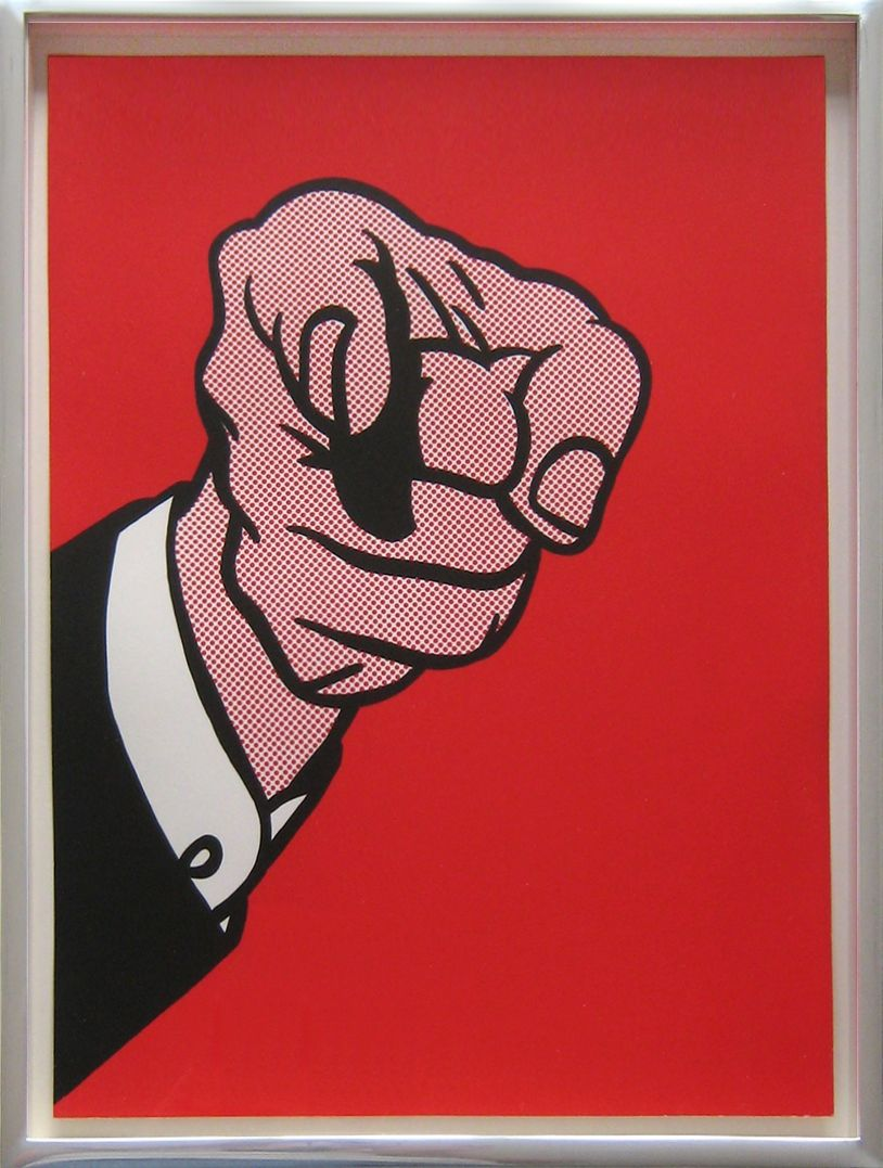 ROY LICHTENSTEIN - FINGER POINTING (CORLETT 126) - JOSEPH K. LEVENE FINE ART http://www.widewalls.ch/artwork/roy-lichtenstein/finger-pointing-corlett-126/ #print