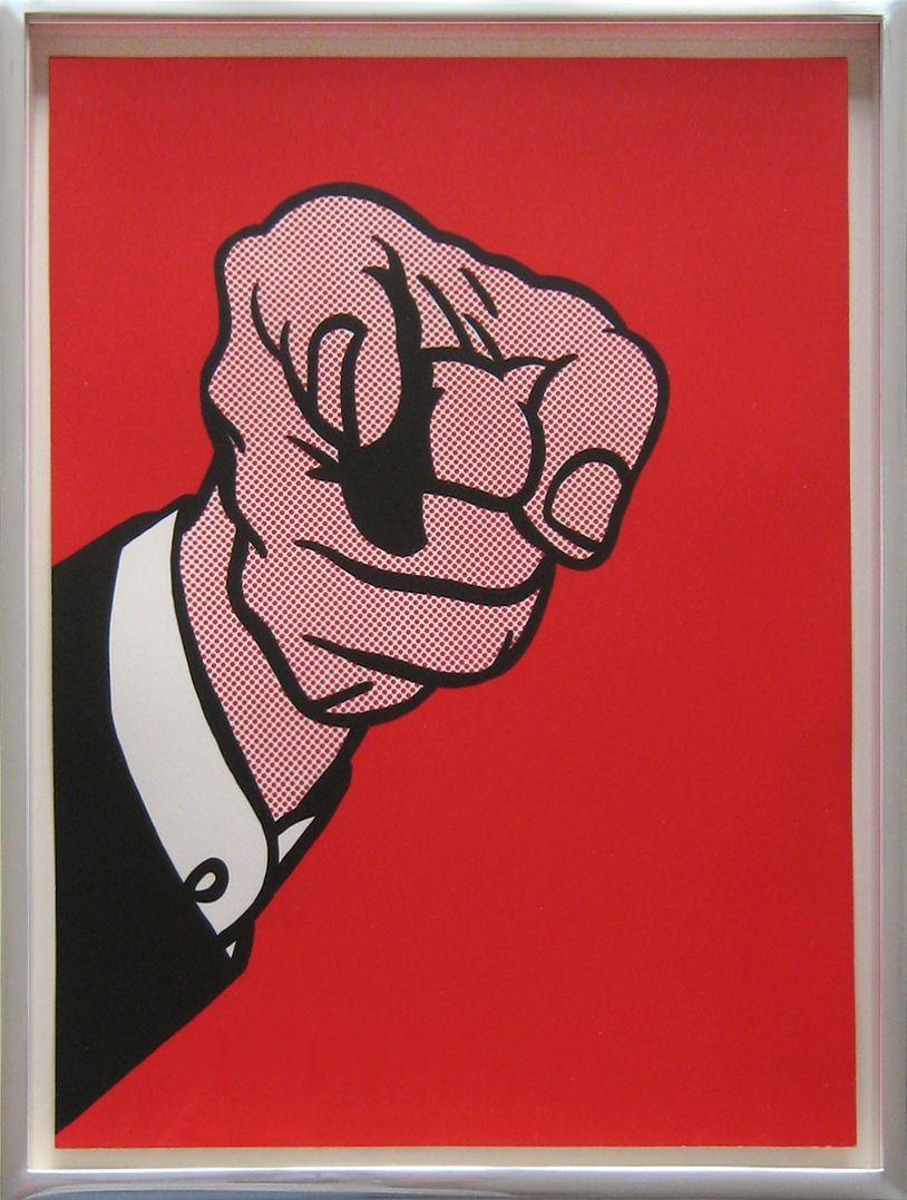 ROY LICHTENSTEIN - FINGER POINTING (CORLETT 126) - JOSEPH K. LEVENE FINE ART http://www.widewalls.ch/artwork/roy-lichtenstein/finger-pointing-corlett-126/ #print