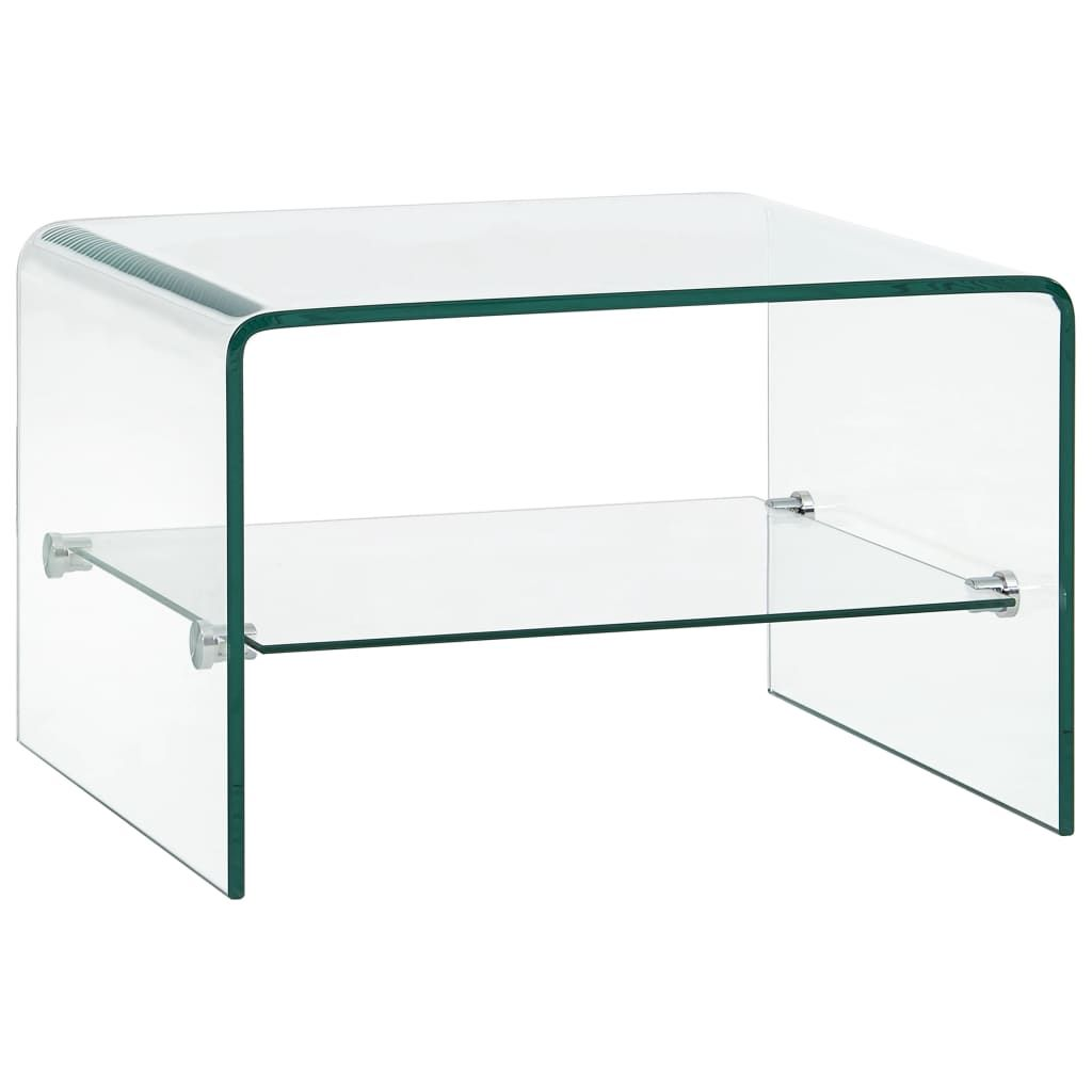 vidaXL Couchtisch Transparent 50×45×33 cm Hartglas
