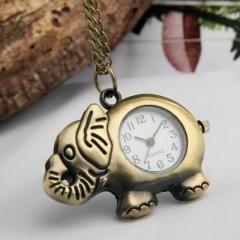 Metal Necklace Pendant Pocket Watch
