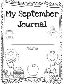 This writing journal includes an adorable September themed