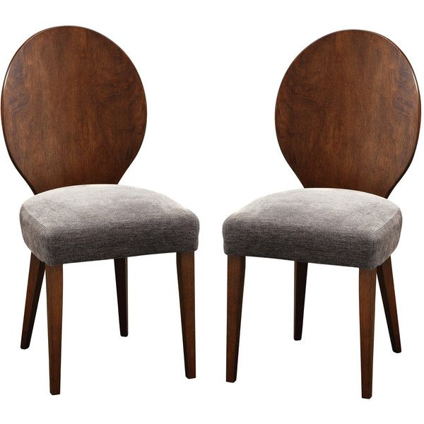 Baxton Studio Set of 2 Olivia Brown Solid Wood Dining Chair ($254) ❤ liked on Polyvore featuring home, furniture, chairs, dining chairs, brown, brown chair, wood kitchen chairs, baxton studio dining chairs, colored chairs and wooden kitchen chairs