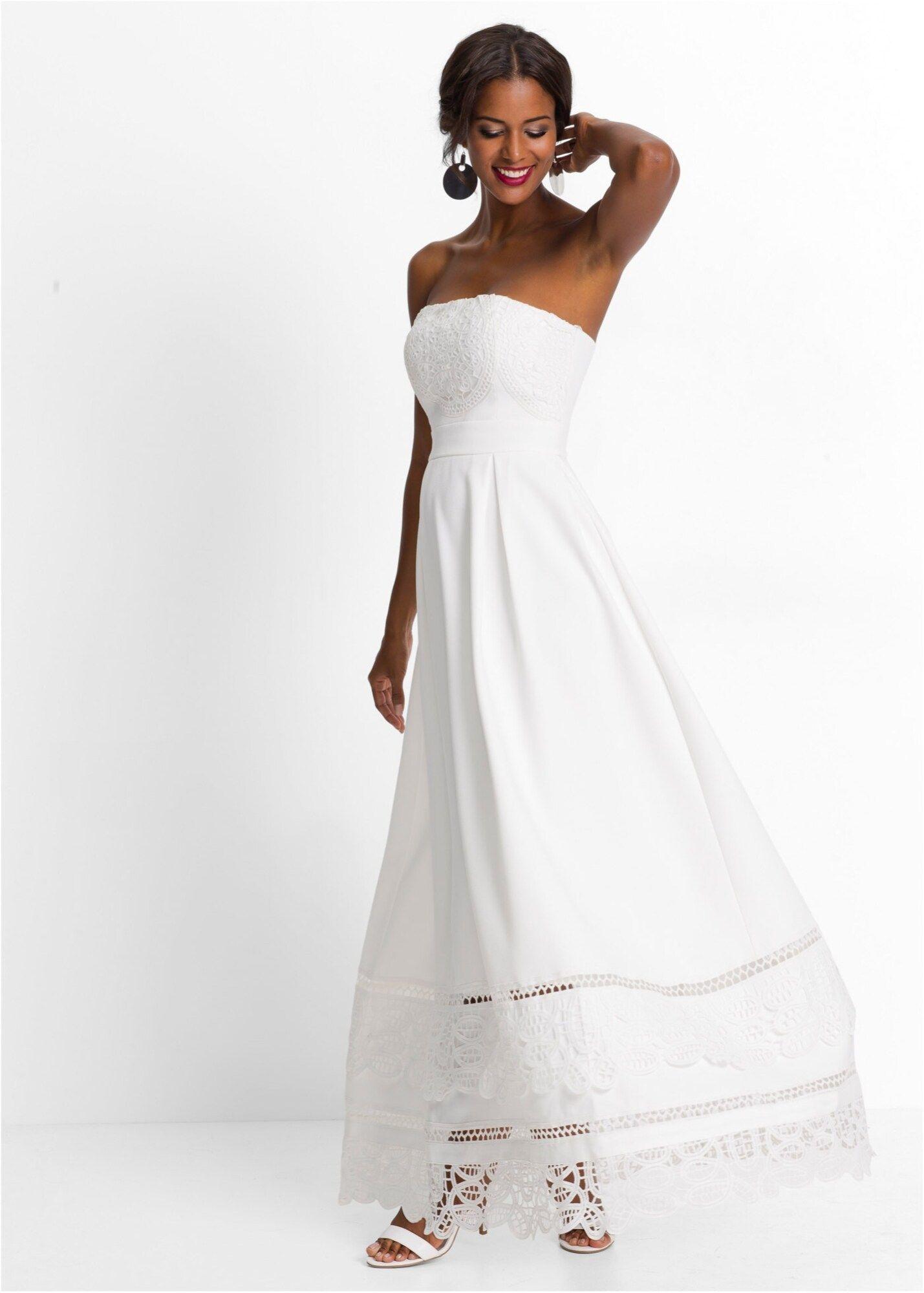 Bonprix Hochzeitskleid Damen, Weiß, Größe 20 in 20