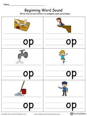 Beginning Word Sound Ap Words In Color Word Family Worksheets Kindergarten Phonics Worksheets Word Families