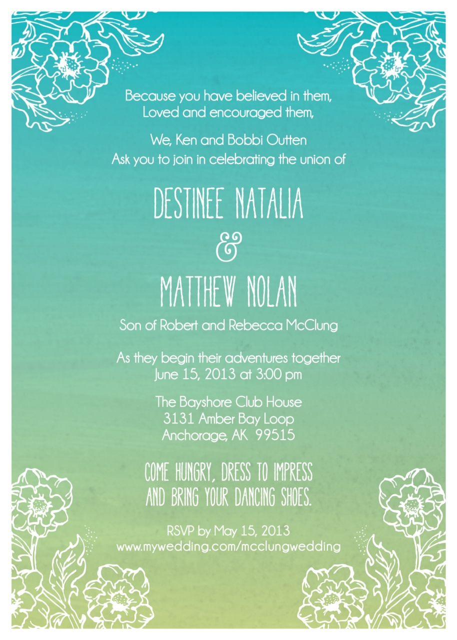 Ombre wedding invitation comes in three colors my wedding 06 15 ombre wedding invitation comes in three colors stopboris Gallery