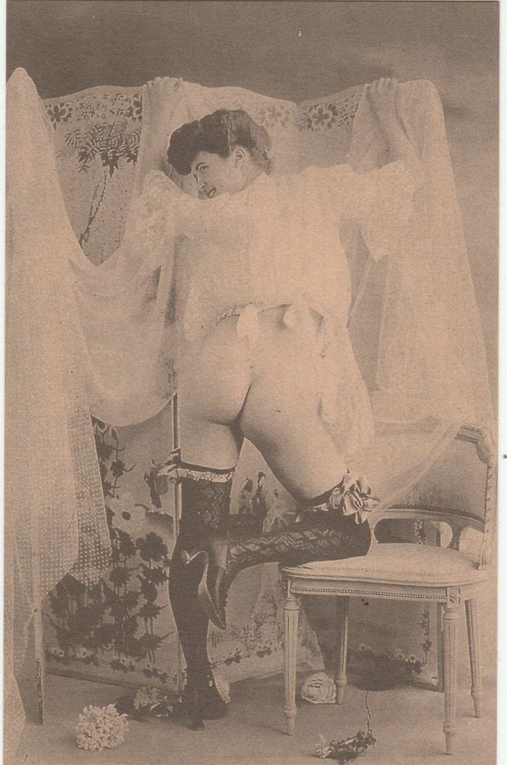erotic postcard - vintage nude art photos reproduction photography