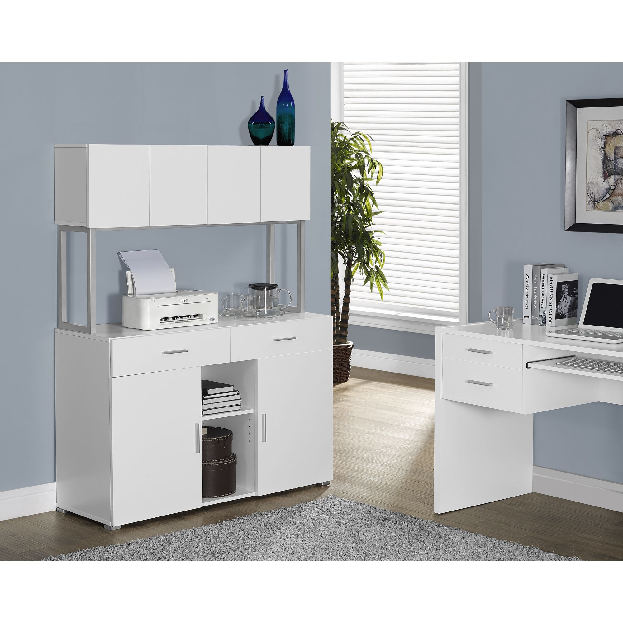 White Hollow Core 48 Inches Office Storage Credenza   Overstock™ Shopping    Big Discounts On Office Storage U0026 Organization