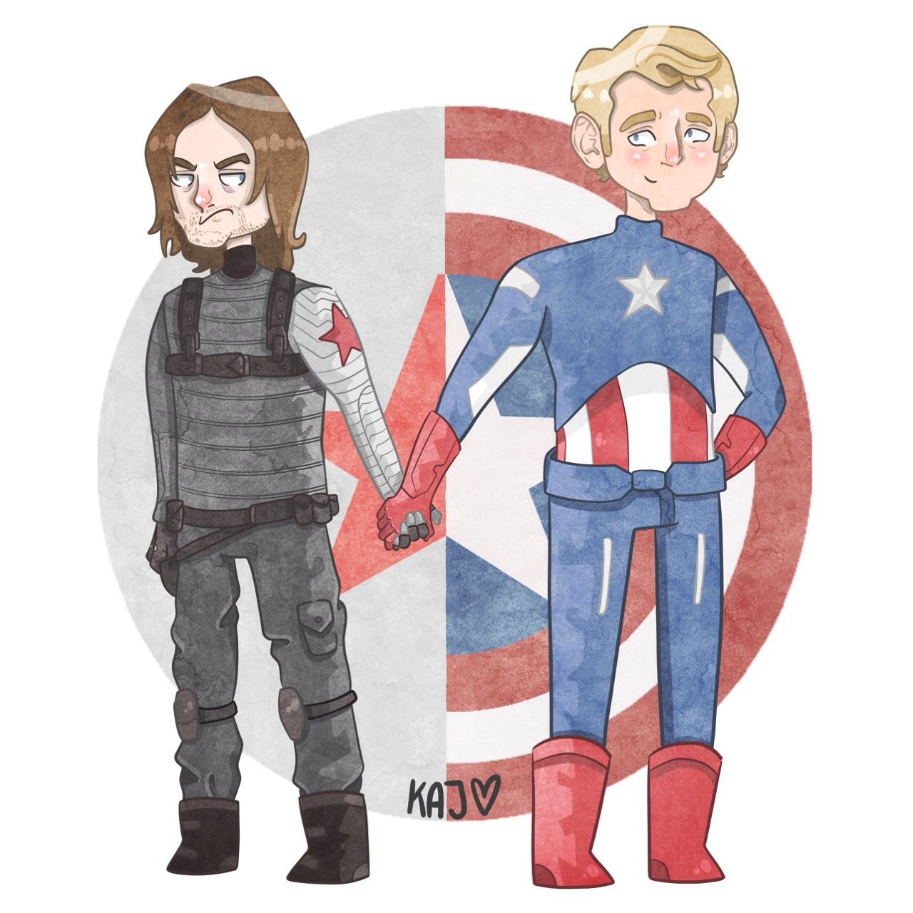 James 'Bucky' Barnes, Winter Soldier / Steve Rogers, Captain America