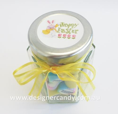 These cute little 70g small hexagon jars filled with easter mix these cute little 70g small hexagon jars filled with easter mix candy make lovely easter gifts the candy is nut free dairy free and gluten free a great negle Images