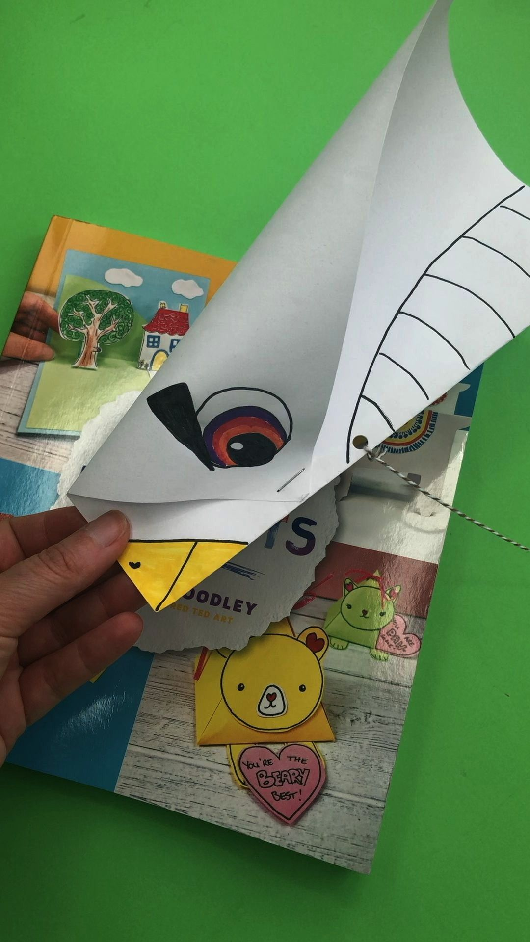 Easy Paper Kite Super Easy Paper Kite Red Ted Art redtedart Latest From Red Ted Art One of the easiest paper kites to make with kids just one sheet of paper and some stat...