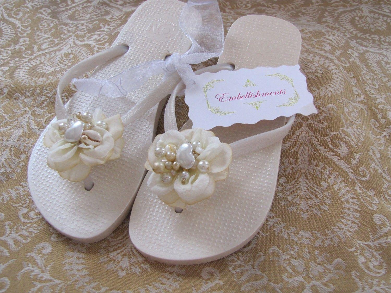 10c8cc119a9e Custom Bridal Flip Flops