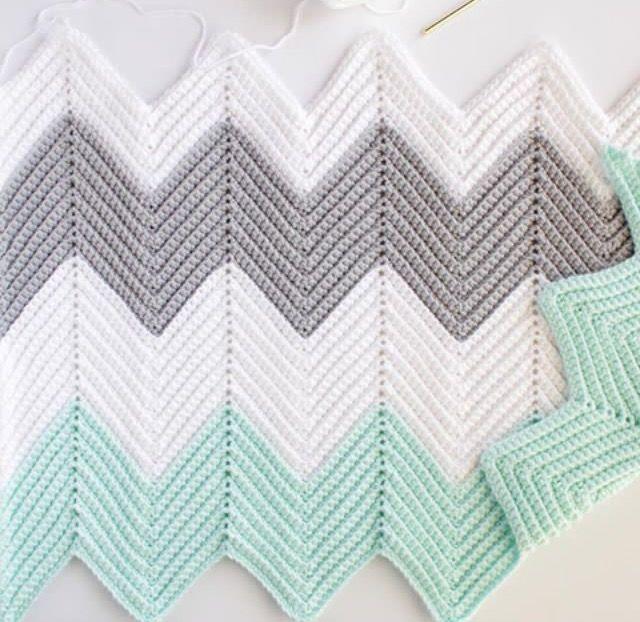 crochet chevron blanket | hobbies | Pinterest | Proyectos de ...