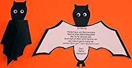 Halloween Einladung Fledermaus ⋆ Kindergeburtstag-Planen.de