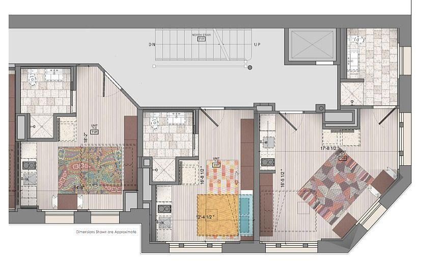 Floor Plan For 3 Side By Micro Units