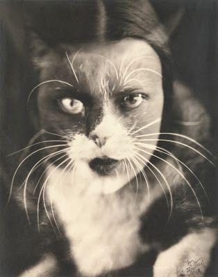 Io + gatto (Cat + I), 1932  http://question---everything.blogspot.com