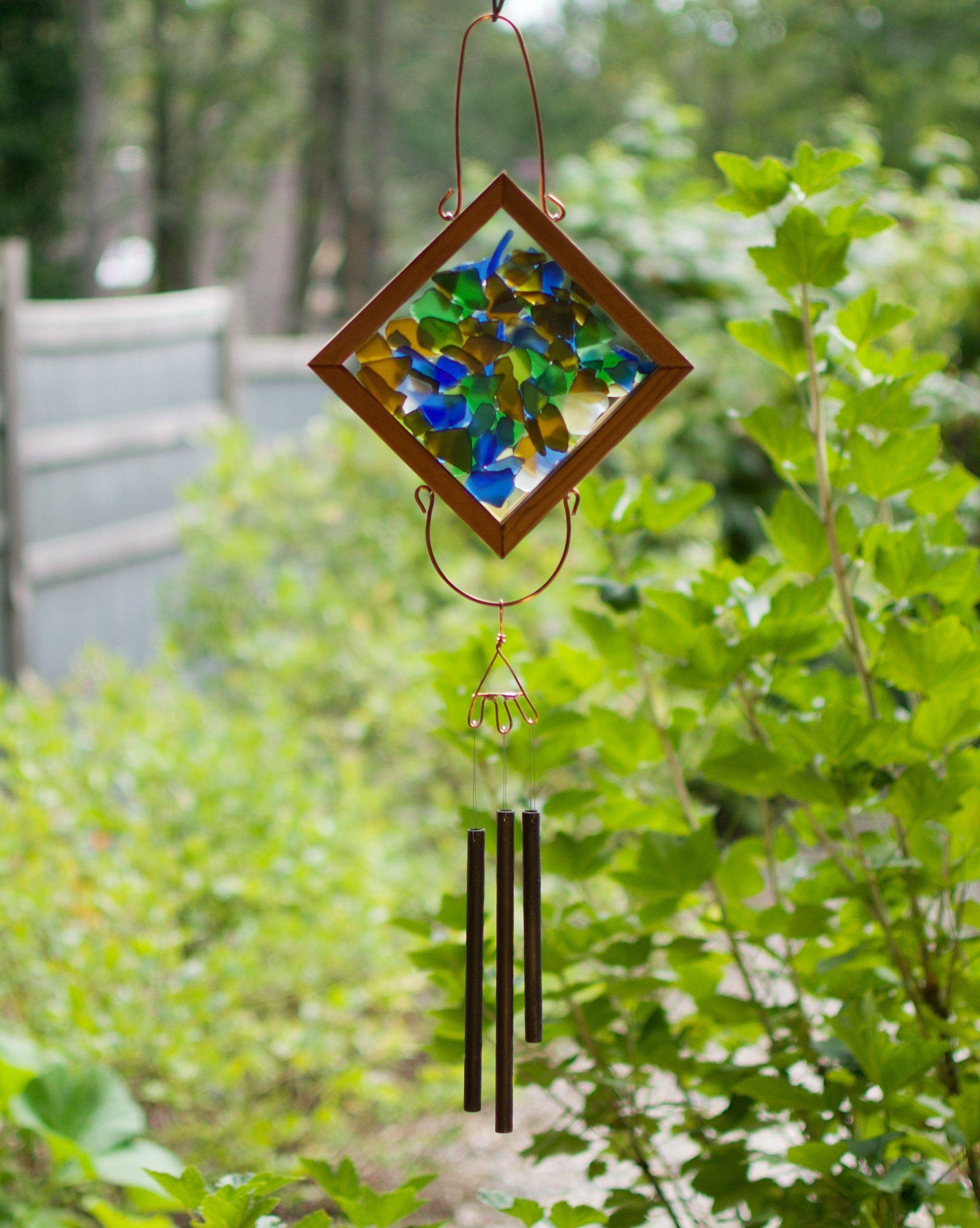 Kaleidoscope Sea Glass Outdoor Wind Chime