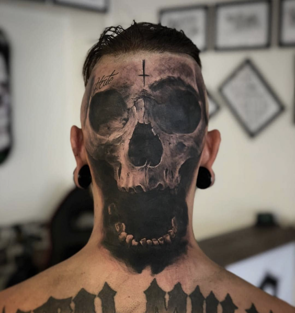 Via Job Stoppers Cool Tattoos Scary Tattoos Neck Tattoo