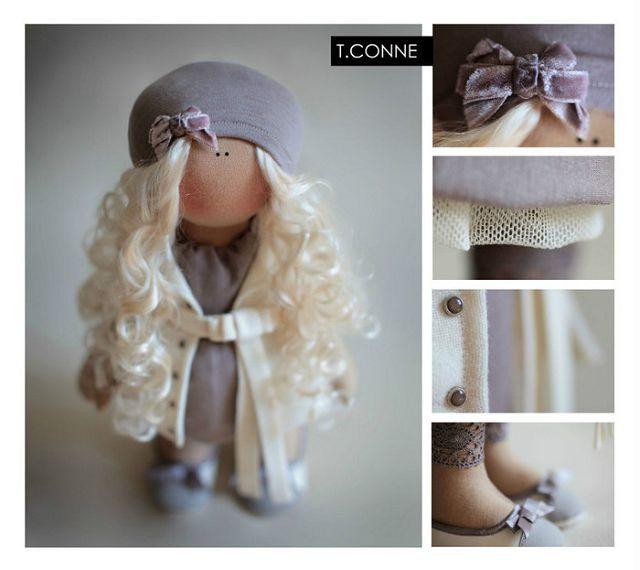 Куклы Татьяны Коннэ, фото, выкройки, мастер класс | Куклы ...