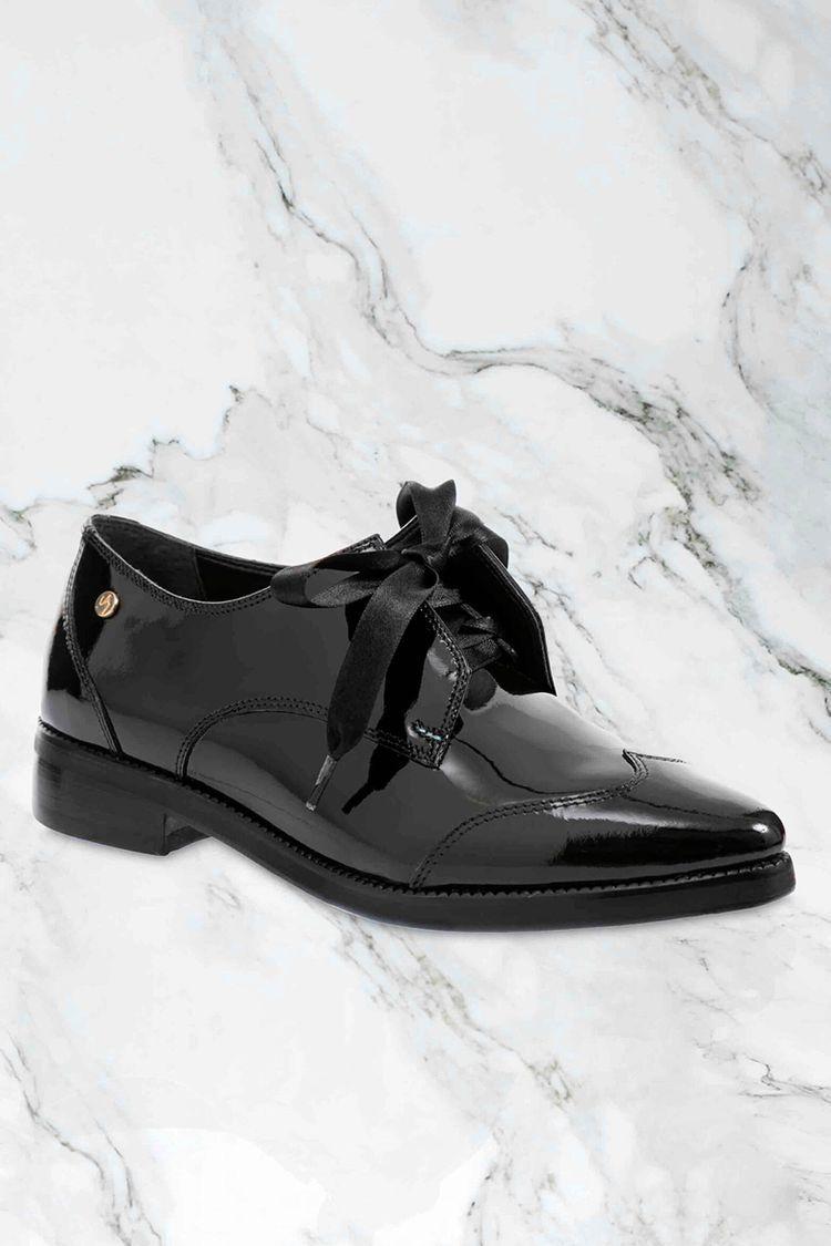 Zapatos de cuero con cordón para mujer 13139  7c2dc46821e1f
