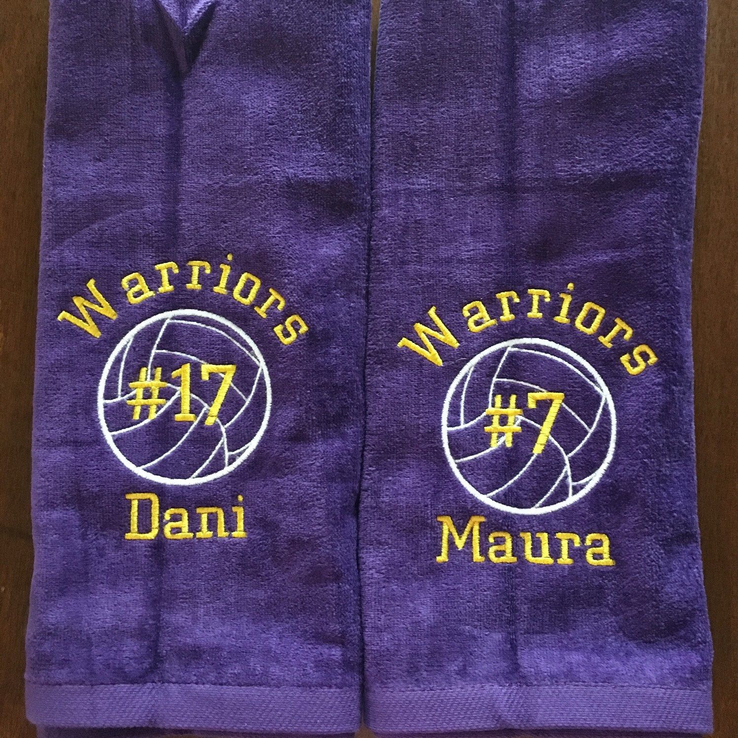 Volleyball towels in any color  www lindakayscreations etsy com