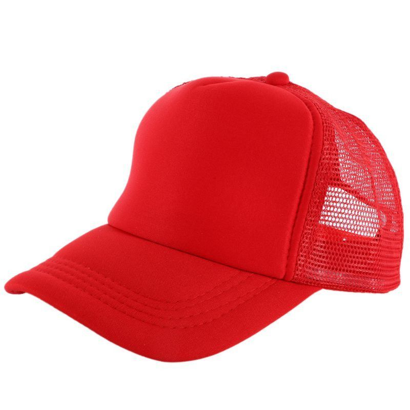 Vogue Adjustable Baseball Cap Trucker Hat Blank Curved Hat Mesh Plain Color  Cap f2a96e35cc45