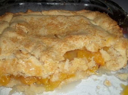 The Best Peach Cobbler / Double Crust