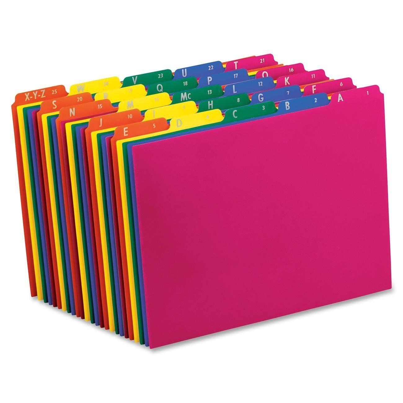 Amazon.com : Pendaflex Poly File Guides, A-Z, 1/5 Cut Top Tabs ...