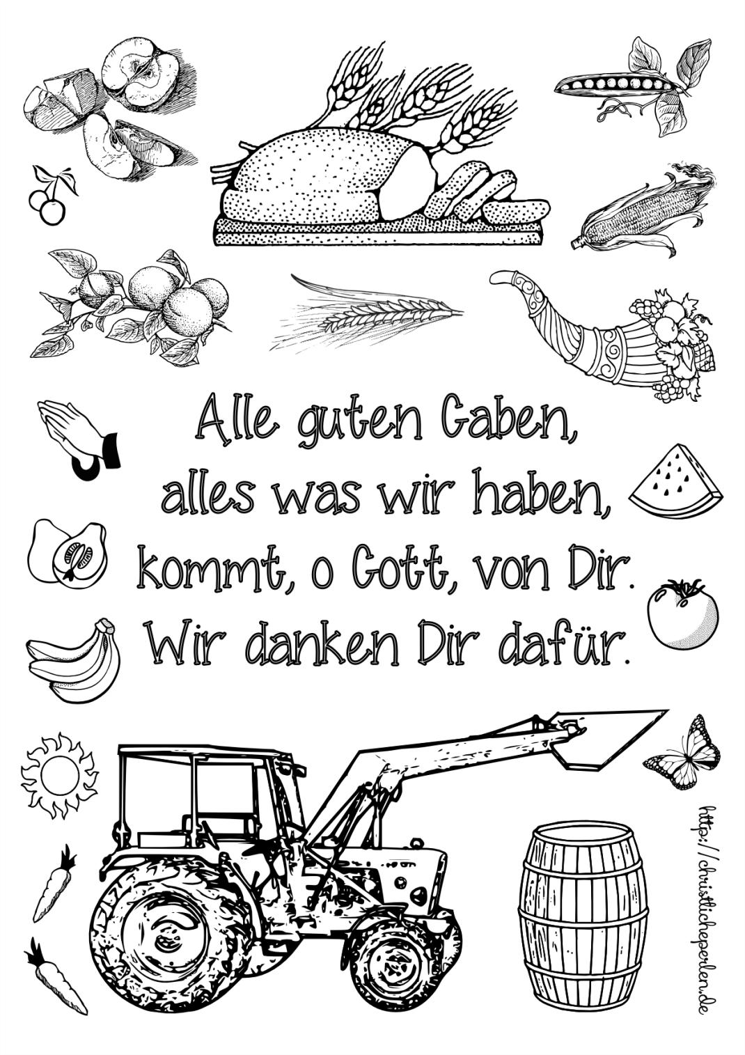 Erntedank Ausmalen Vorlage Erntedank Im Kindergarten